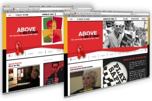 The History Project AIDS Exhibit website