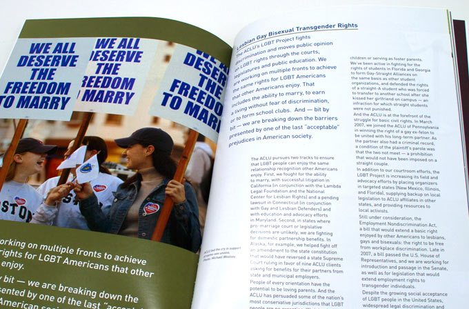 ACLU Annual Report 2008