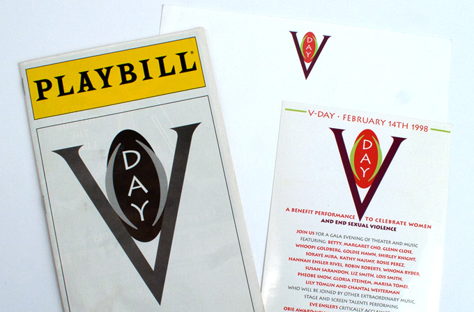 V Day Brand Identity and Playbill for Fundraising Gala